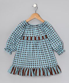 Take a look at this Blue Dots Pattycake Dress - Toddler & Girls by Beary Basics on #zulily today!