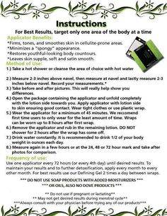 ultimate body applicator instructions