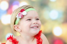 Christmas Candy Rosette Headband Baby by extrafrostingplease, $12.00