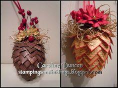 Paper Pine Cone tutorial.