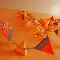 Paper Pyramid Lanterns  Coral Mustard and by SocietyNatlIndustry, $30.00