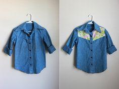 DIY camisa yugo floral