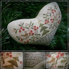 sub rosa: Christmas heartNina's Threads: Hunter, Chilli (idén ez a kedvenc karácsonyi piros nálam!),  Grizzly, Pigeon, Old Gold, Cigar