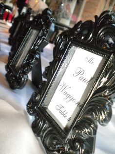 Kristina and Carl -Table numbers for guest tables.
