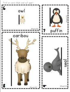 """Measure Me:  Winter Friend"" - Add a little winter fun to your math center while your students practice their measuring skills.  This packet includes: 12 winter themed picture cards with a line drawn on pictures to show students where to measure,12 winter themed picture cards without the line, 2 recording, and a center sign.  $"