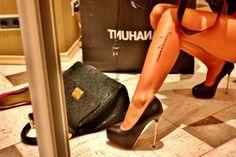 high heels, tattoo, legs