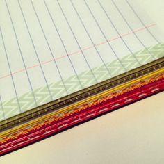Keep edges neat with washi tape