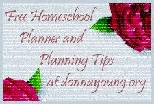 Donnayoung.org   print fee homeschool planners, household planners, calendars, handwriting lessons, printable worksheets or papers for several subjects, handwriting