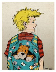 Calvin and Hobbes by mariocau.deviantart.com