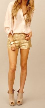 love the sparkly shorts!