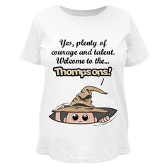 Sorted To The Thompsons! Maternity LA T Cotton Tee #maternity #sortinghat #peekaboo