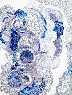 draw, blue zentangle, pattern, color, textur, art, doodl, symphoni, blues