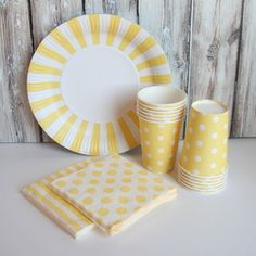 Tableware Set - Yellow from The TomKat Studio Shop www.shoptomkat.com