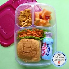 My Epicurean Adventures: Here's Lunch #33: Ham and Cheese on Bun in @easylunchboxes