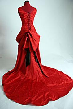 #.  red dresses