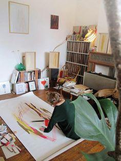 Félicia Atkinson life of an artist, félicia atkinson, studio spaces, artstudio, art studios, dream apart, dream room, inspir, workspac