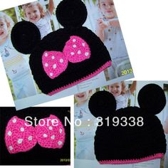 Free Crochet Character Hat Patterns | crochet hat pattern Baby Mickey Mouse hats Animal beanies Knitted hat ...