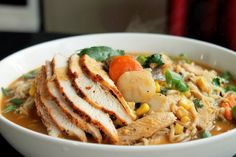 Creole Contessa: Roasted Chicken Ramen Noodle Soup by creolecontessa #Soup #Noodle #Ramen #Chicken