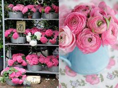 Love Hydrangeas and Rannuculus :: Floral « Leslie Shewring color, hydrangea, flower