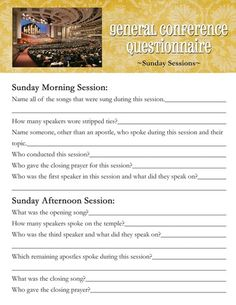 53 Conference Activities for Kids: Conference Questionnaire