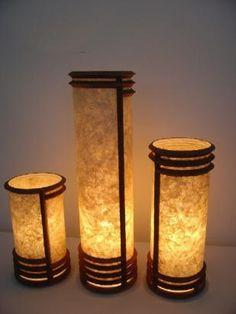 Lamp shade made recycled cardboard and banana fiber