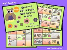 Live Speak Love: WHOOO Loves Owls?! Owl-Themed WHO Question Activity. Pinned by SOS Inc. Resources. Follow all our boards at pinterest.com/sostherapy for therapy resources.