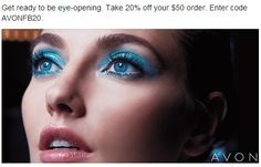 Avon Discount - save 20% on your online Avon order of $50 or more plus Avon free shipping on all $35 orders! Use Avon coupon code: AVONFB20 at http://eseagren.avonrepresentative.com #avon #freeshipping #couponcode