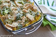 Easy weeknight dinner! Parmesan Chicken Bake with Broccoli!