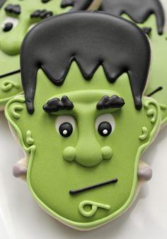 Funny Frankenstein Cookies - Sugarbelle