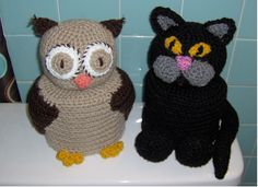 Birdies Crochet and Craft The Owl and the Pussycat T-paper Cover free pattern