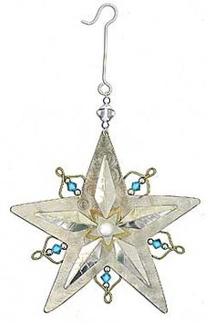 Radiant Star Upcycled Metal Ornament