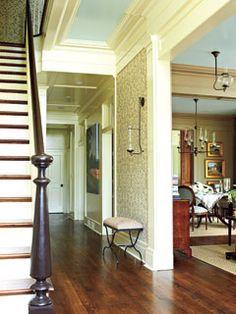 {paint} Ceiling: Sherwin Williams, Window Pane; Trim: Sherwin Williams, Roycroft Vellum; Handrail: Sherwin Williams, Weathervane