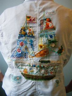 Buttons, fabrics and stitching - what a cute idea!!