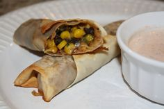 Spicy Southwest Eggrolls- Healthy Chili's copycat recipe