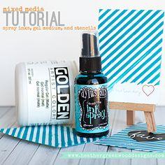 Heather Greenwood | Mixed Media Tutorial | mixing spray ink and mists into gel medium