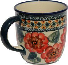 Polish Pottery Coffee Mug 12 Oz.