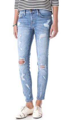 fashion, style, stiletto jean, distress denim, jeans, closet, stilettos, currentelliott, distress jean