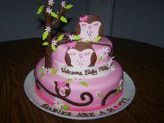 babi cake, cake idea, paisley owl baby shower, owl babies, shower idea, baby cakes, babi shower, baby shower cakes owl themes, baby showers