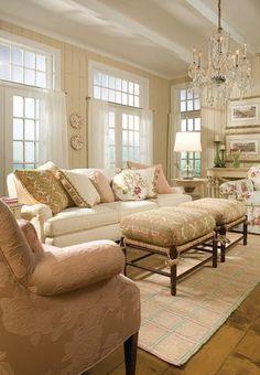 Feminine touches in living room   Unique By Design Ltd.