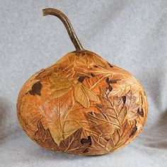 Mountain Maples Relief Carved in a Gourd by bbaitystudio2, via Flickr