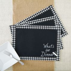 Easy DIY Chalkboard Placemats