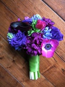 Blue, purple and fuschia bouquet - beautiful, saturated jewel tones!