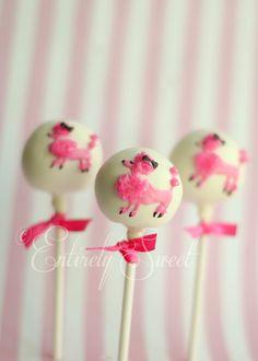Pink Poodle Cake Pops