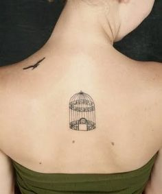 Bird  Cage Tattoo--I'm not the type to get a tattoo but this one is pretty neat.