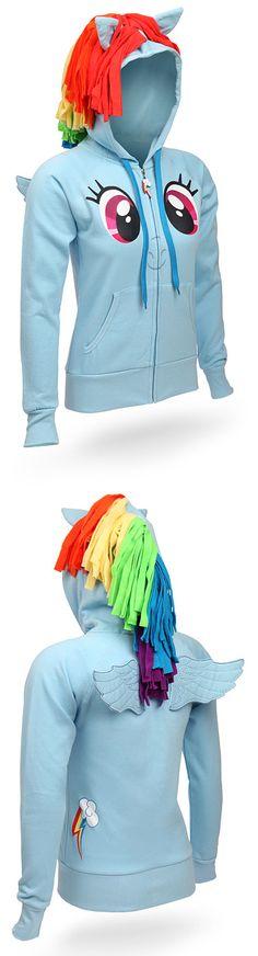 Rainbow Dash Hoodie. NEED THIS!