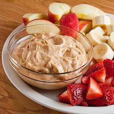 1/2 cup peanut butter to 1 cup greek plain non-fat yogurt. I'm soooo addicted!!! --- Seriously one of my favorite snacks!!!! YUM!!!!