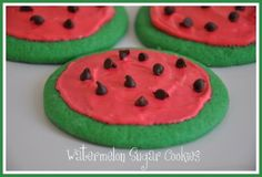 Watermelon Sugar Cookies for a Summer Picnic