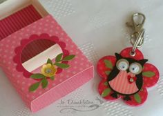 Stampin Up: Owl Builder Punch. Used to create a keyring gift and box.