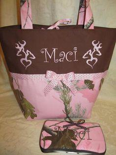 Custom Handmade Realtree pink camo camouflage by creativesewing2, $64.99