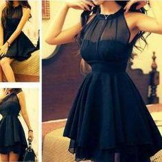 Mesh front Cute Slim Dress ..
